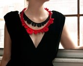 Binary Necklace // Red