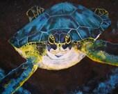 Sea Turtle of St Eustatious: a limited edition fine art print by LaSha Ackerman