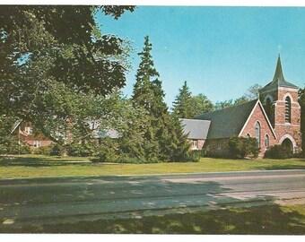 Trinity Church in Shelburne Vermont built in 1790/ vintage postcard