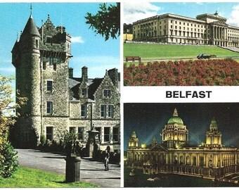 Vintage Ireland postcard/ Belfast
