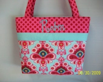 Amy Butler FRENCH WALLPAPER Diaper Bag ..  Tote ... Monogrammed FREE...