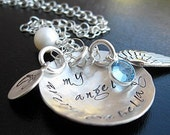 My Angel my Baby handstamped sterling silver mothers necklace