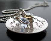 Friendship isn't a big thing....it's a million little things sterling silver charm necklace