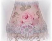 Lovely NEW Rachel Ashwell Fabric Rosalie Lampshade NIGHT LIGHT