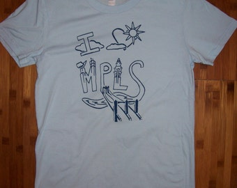 Women's - I Heart MPLS t-shirt - blue