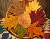 EPATTERN -- Primitive Fall Leaves Tucks Ornies Bowl Fillers