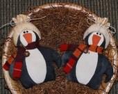 EPATTERN -- Primitive Winter Penguin Bowl Fillers Ornies