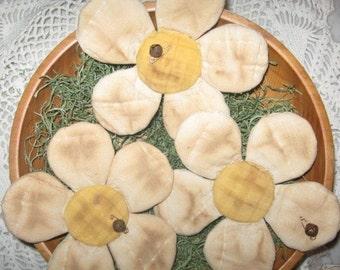 EPATTERN -- Primitive Daisy Tucks Bowl Fillers Ornies