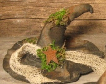 EPATTERN -- Primitive Halloween Witch Hat Tucks Bowl Fillers Ornies