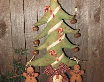 EPATTERN -- Primitive Christmas Tree Make Do Gingerbread Tuck Ornament Ornies Bowl Filler Pattern