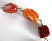 Chunky Red Agate Bracelet