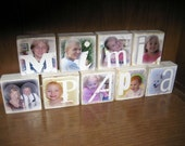 Personalized Photo Blocks-SPECIAL Mother's Day Package- Flat Rate Box 1-  up to 24 blocks