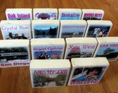 WEDDING Personalized Photo Blocks- Table NUMBERS or PLACES for your wedding-set of 14 Large blocks