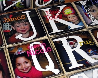 TEACHER'S SPECIAL- Flat Rate Shipping- Photo Blocks- the WHOLE alphabet- 26 letter blocks