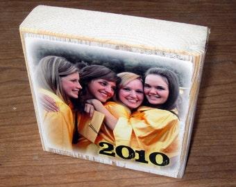 Personalized gift- Larger Photo Letter Blocks- GRADUATION thanks coach TEACHER GIFT friends