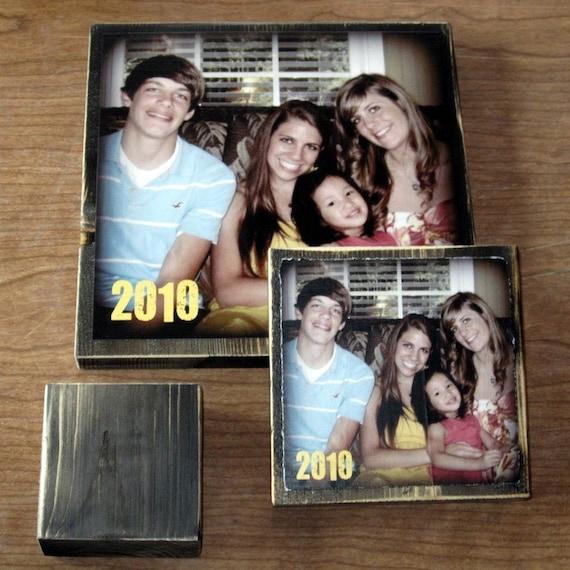 PERSONALIZED Photo Blocks- EXTRA large- 9 inch square custom design