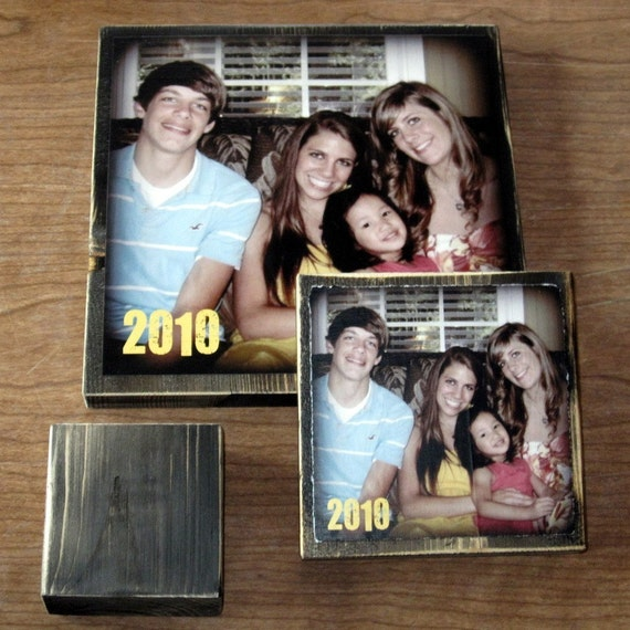 Personalized Photo Blocks- EXTRA large- 9 inch square custom design with First Class shipping to AUSTRALIA