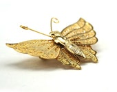 1970s Gold Tone Butterfly Pin Brooch