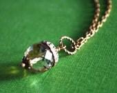 autumn acorn. faceted czech glass acorn necklace.