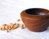 Small Vintage Mid Century Modern Wood Bowl