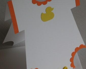 Rubber Duckie Onesie Baby Card