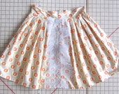 Amy Butler  Honeycomb A-Line Skirt with Tulle Small Pink Orange Yellow Geometic Print