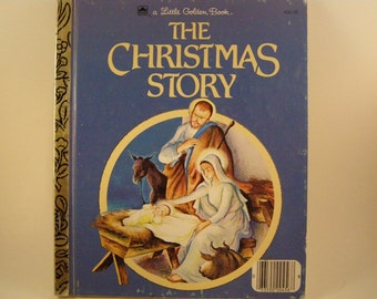 The Christmas Story, vintage Little Golden book