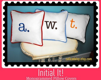 Letter Pillow Cover - Initial It - 12 x 12 square