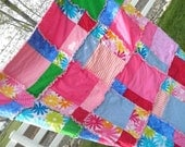 PATTERN Rag Quilt for Disappearing Nine Square for Toddler Bedding and Baby Crib Blanket, Instant Download