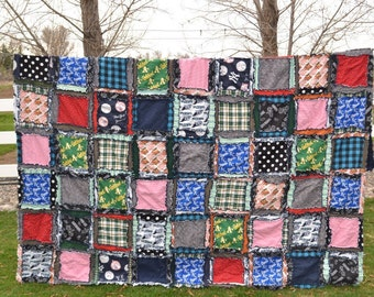 Easy Peasy Rag Quilt Patterns - Twin Size Quilt Pattern - Easy Quilt Pattern - Simple Quilt Pattern - Kid Sewing Pattern - Sewing Patterns
