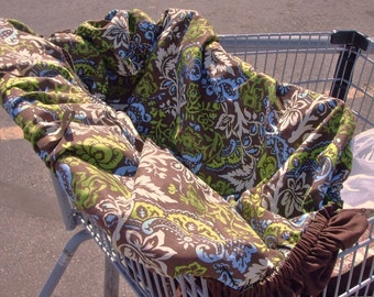 PATTERN, Shopping Cart Cover, Grocery Buggy, Baby, tutorial, REVERSIBLE, Instant Download - Shopping Cart Cover Pattern - Grocery Cart Cover