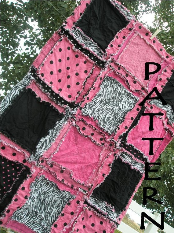 Baby Girl Rag Quilt Patterns Rag Quilt Pattern For Baby