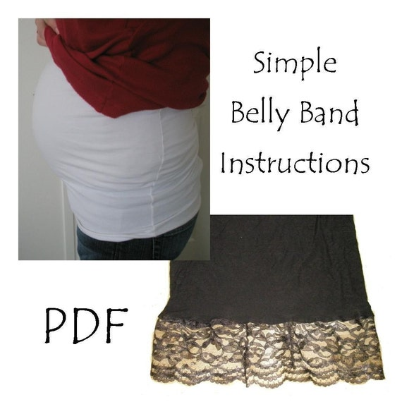 Pregnant belly band sewing pattern by A Vision to Remember