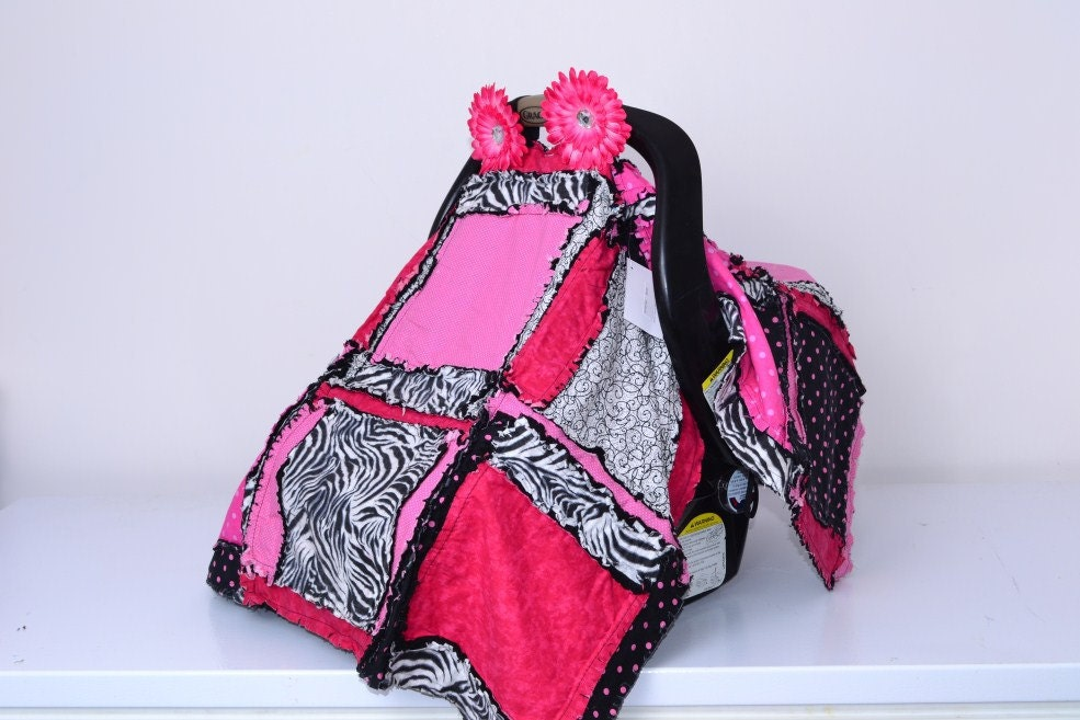 Car Seat Cover Pattern With A Baby Rag Quilt By