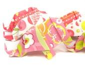 SALE 6 Origami Elephants - Girly Pink Designs