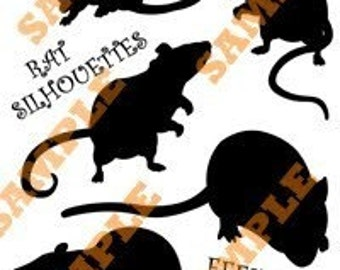 Rat Silhouettes Halloween Decoration PDF