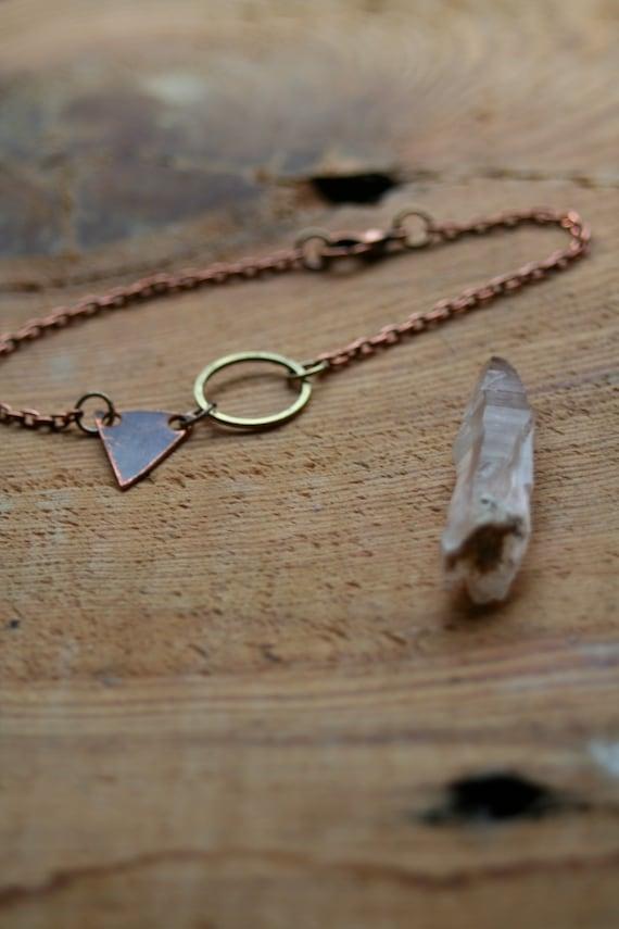 triangle mountain peaks bracelet