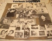 Yearbook Snippet No. 4 Collage Altered Art Assemblage Ephmera ZNE