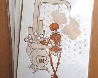 Robot Cards - Set of 3