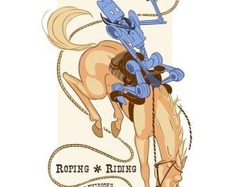 Robot Rodeo - 8.5 X 11 PRINT