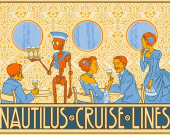 Nautilus Cruise Lines - 11X17 PRINT