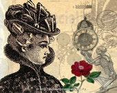 Give Her Time - 11x14 Steampunk Romance Inspired Fantasy Fine Art Print