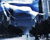 Apres Moi Le Deluge - 11x14 Surreal Fantasy Fine Art Digital Collage Print