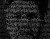 Ezra Pound - 11x14 Typographical Portrait Fine Art Print