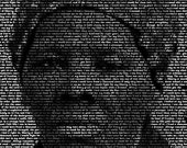 Harriet Tubman - 11x14 Typographical Portrait Fine Art Print