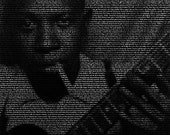 Robert Johnson - 11x14 Typographical Portrait Fine Art Print