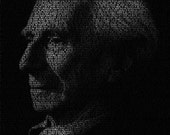 Bertrand Russell - 11x14 Typographical Portrait Fine Art Print