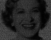 Gracie Allen - 11x14 Typographical Portrait Fine Art Print