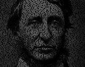 Henry David Thoreau - 11x14 Typographical Portrait Fine Art Print