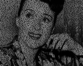 Gypsy Rose Lee - 11x14 Typographical Portrait Fine Art Print